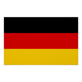 Framed print with Flag of  Germany