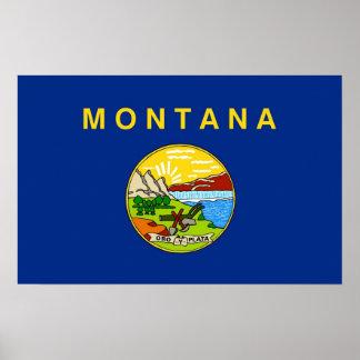 Framed print with Flag of Montana, U.S.A.