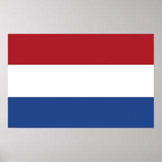 Framed print with Flag of Netherlands
