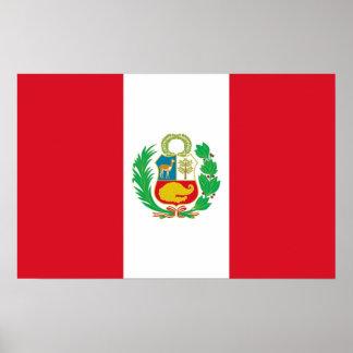 Framed print with Flag of Peru