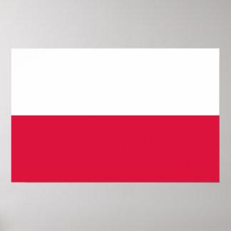 Framed print with Flag of Poland