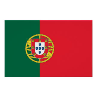 Framed print with Flag of Portugal