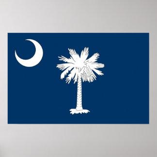 Framed print with Flag of South Carolina, U.S.A.