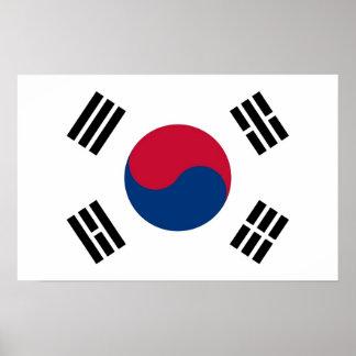 Framed print with Flag of South Korea