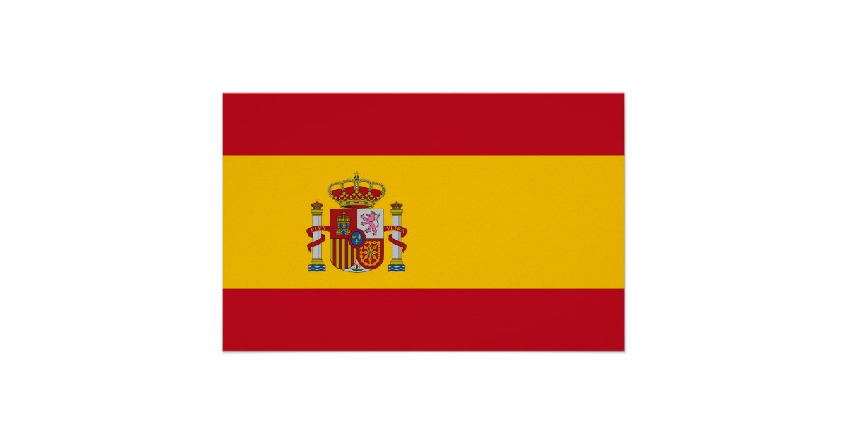 Framed Print With Flag Of Spain Zazzle