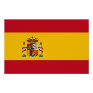 Framed print with Flag of Spain