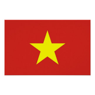 Framed print with Flag of Vietnam