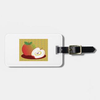Framed Red Apple Travel Bag Tag