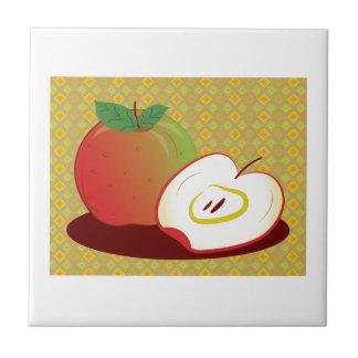 Framed Red Apple Tile