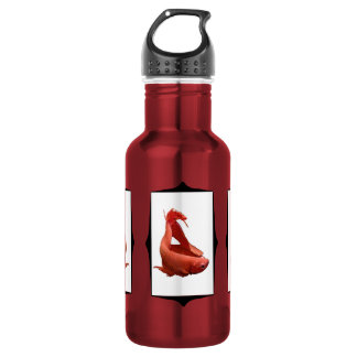 Framed Red Betta 18oz Water Bottle