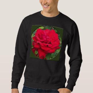 Framed Red Rose Sweatshirt