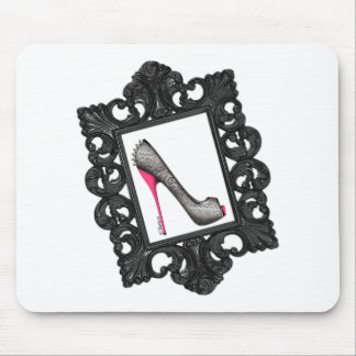 Framed Reptile Stiletto Logo Mouse Pad