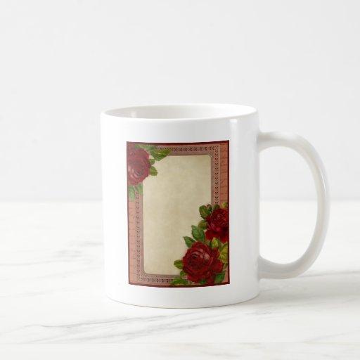 Framed Roses Coffee Mug