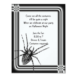 Framed Tarantula Halloween Invitation