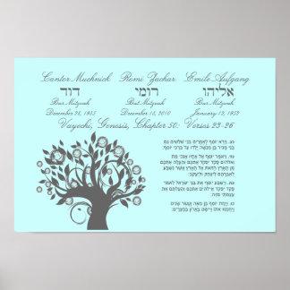 Framed Torah Portion Bar Mitzvah Gift Poster