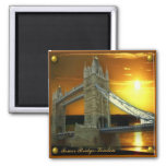 Framed Tower Bridge in Sunshine Fridge Magnet