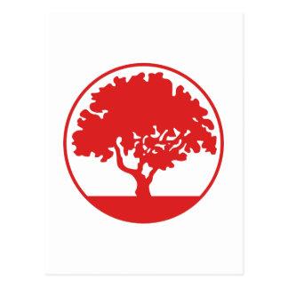 FRAMED TREE POSTCARD