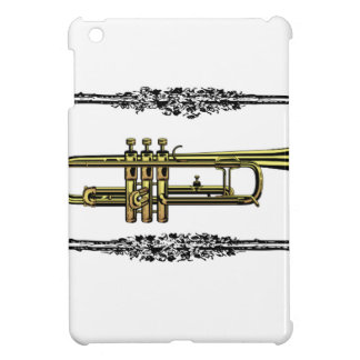 framed trumpet in gold iPad mini cover