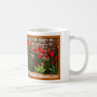 Framed Tulip Garden - Mug