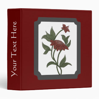 Framed Watercolor Red Lotus Scrapbook Binder