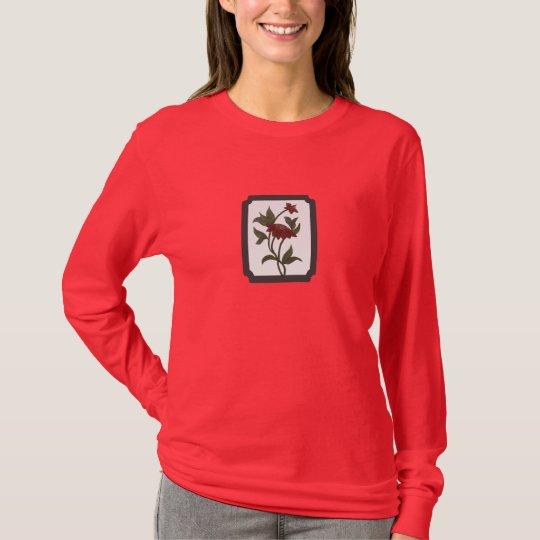 Framed Watercolor Red Lotus Shirt