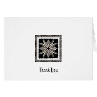 Framed White on Black Fractal Art Design Greeting Card