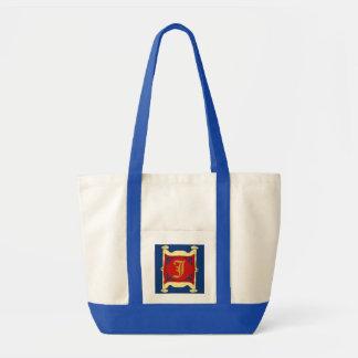 Framed Woman Initial, edit letter Tote Bag