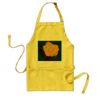 Framed Yellow Rose Adult Apron