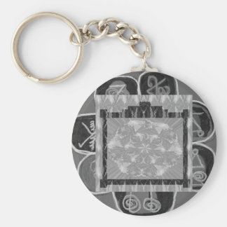 Frames of Black n White Art - Add text or image Basic Round Button Keychain