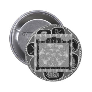 Frames of Black n White Art - Add text or image Pinback Button
