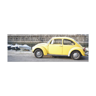 framework with yellow Beetle design Canvas Print