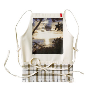Framing a sunset zazzle HEART apron