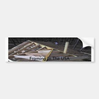 Framing In The USA Bumper Sticker