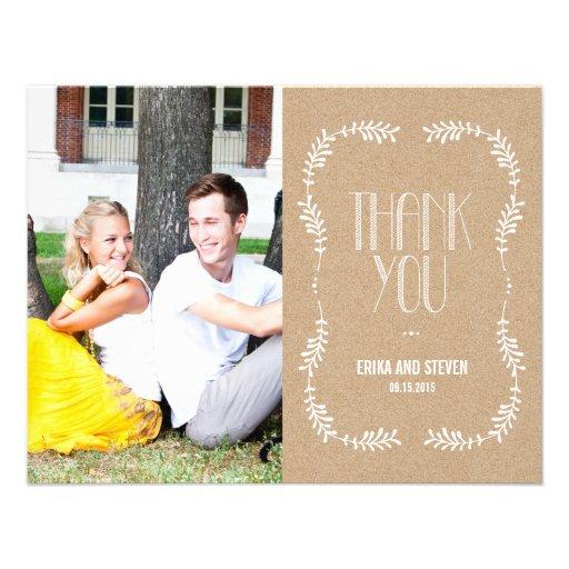 Framing Leaves Wedding Photo Thank You Card Craft Custom Invitations