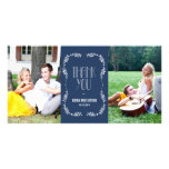 Framing Leaves Wedding Thank You Cards Navy Photo Cards