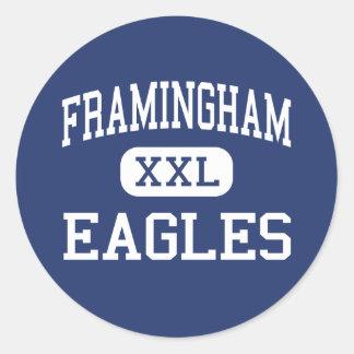 Framingham - Eagles - High - Framingham Classic Round Sticker