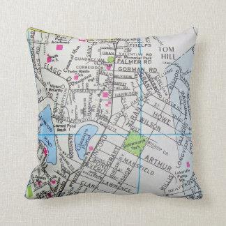 FRAMINGHAM, MA Vintage Map Pillow