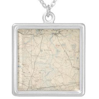 Framingham, Massachusetts Square Pendant Necklace