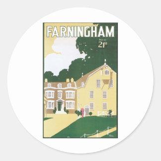 Framingham Classic Round Sticker
