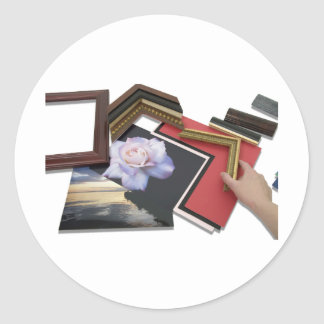FramingPlace050809Shadows Classic Round Sticker