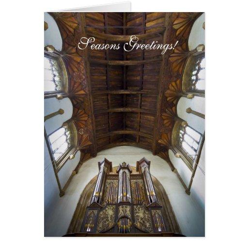 Framlingham organ Christmas card