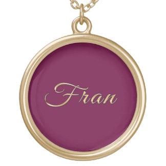 FRAN Name-Branded Gift Pendant Necklace