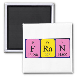 Fran periodic table name magnet