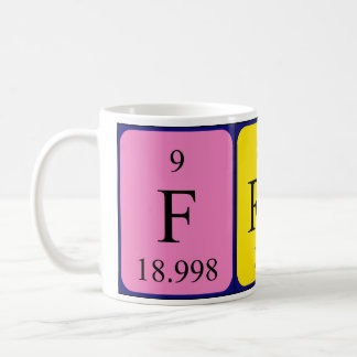 Fran periodic table name mug