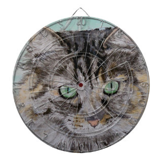 Fran the Tabby Cat Dartboard With Darts
