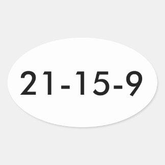 Fran WOD 21 15 9 Oval Sticker