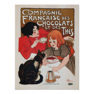Francais de Chocolats French Chocolate Poster
