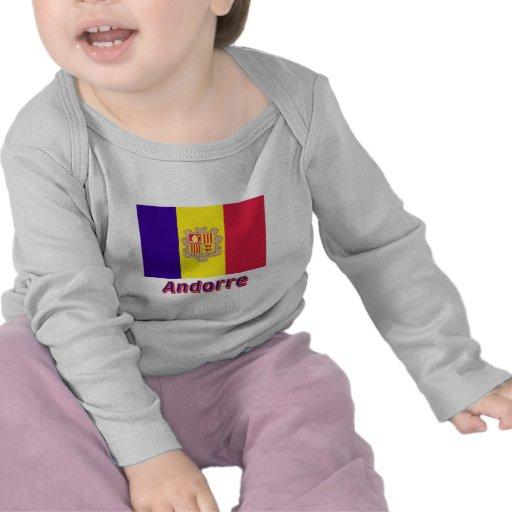 Français de Drapeau Andorre avec le nom en Camiseta