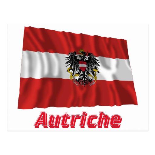 Français de Drapeau Autriche avec le nom en Postal