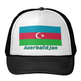 Français de Drapeau Azerbaïdjan avec le nom en Gorras De Camionero